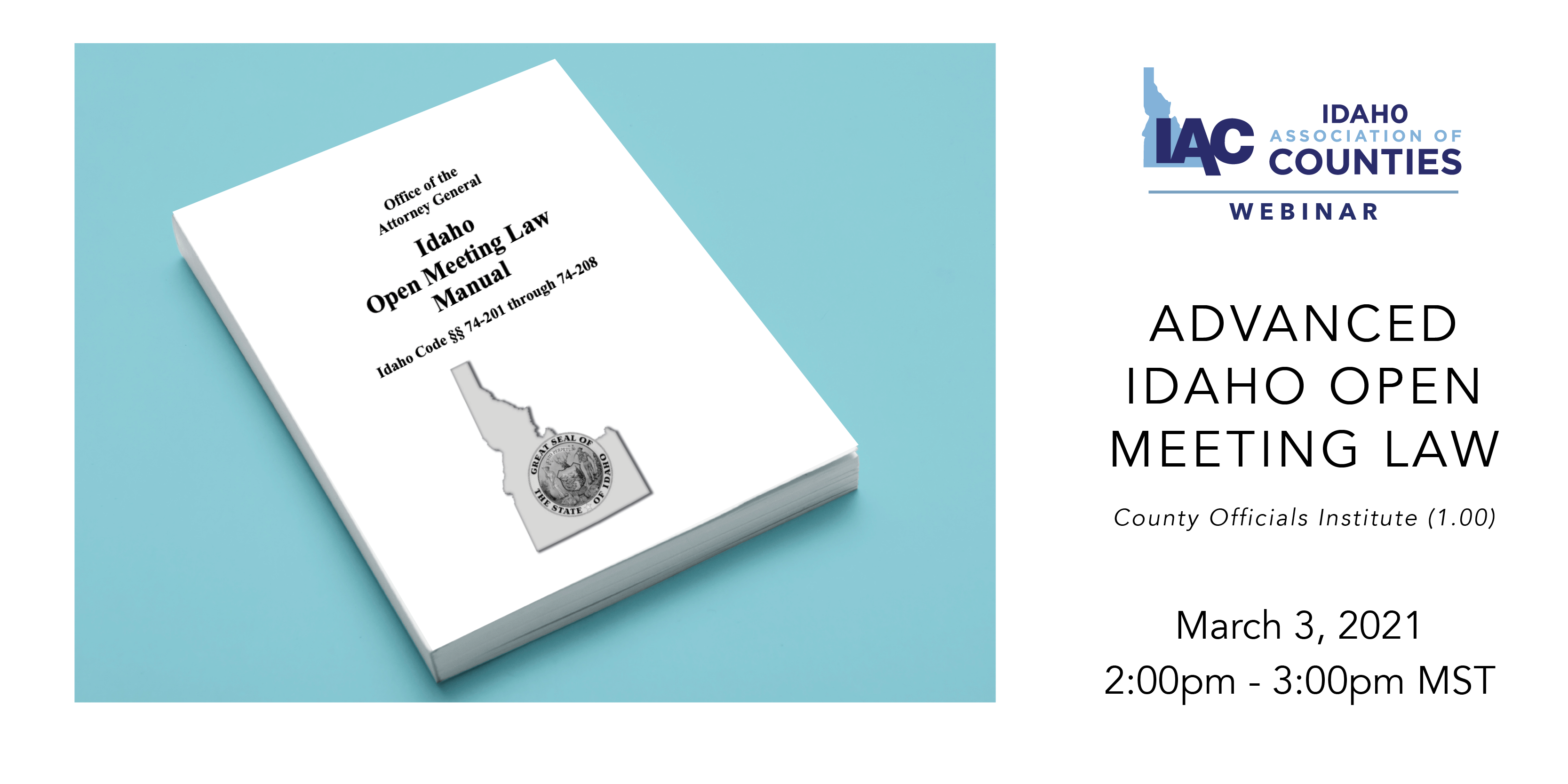 IAC Webinar: Advanced Idaho Open Meeting Law