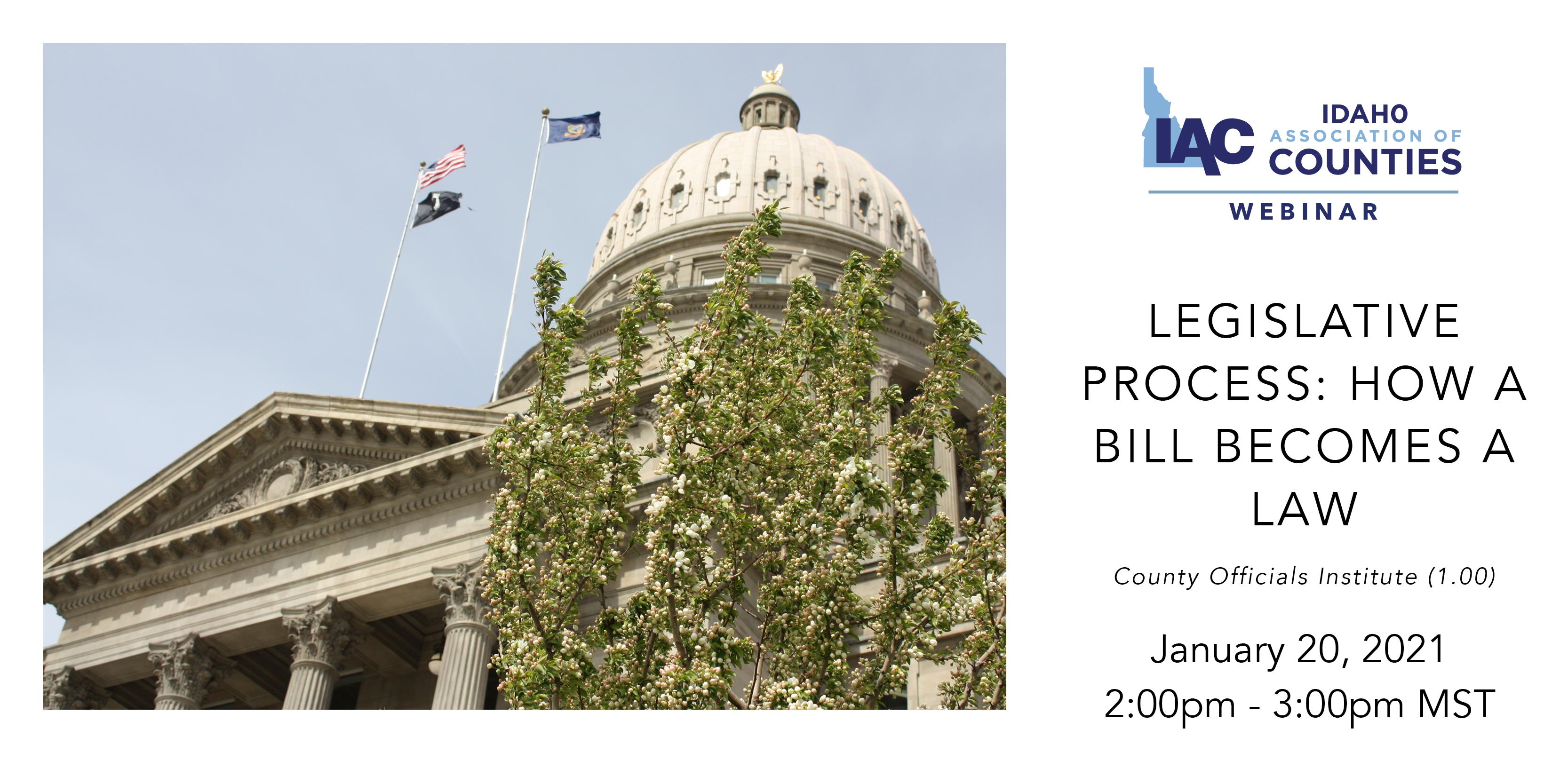 IAC Webinar: Legislative Process: How a Bill Becomes a Law