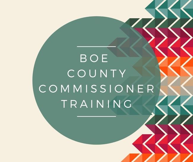 BOE – County Commissioner Training – Caldwell
