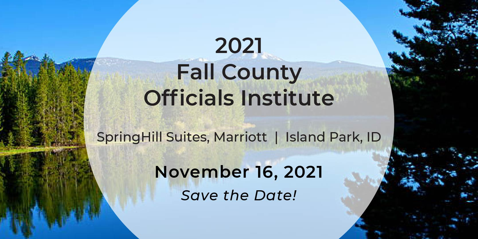 2021 Fall County Officials Institute